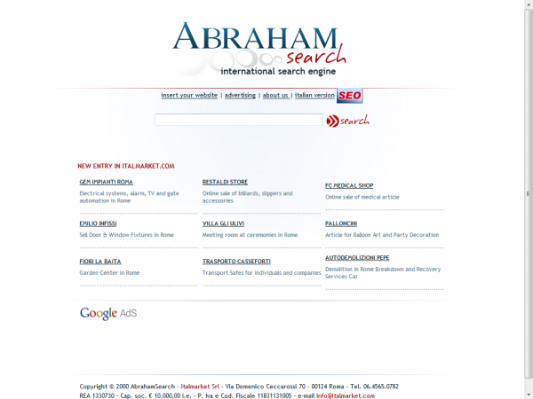 ABRAHAM SEARCH ENGINES