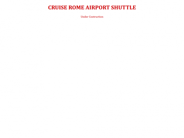 CRUISE ROME AIRPORT SHUTTLE