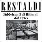 Biliardi Restaldi - fabbrica di biliardi a Roma
