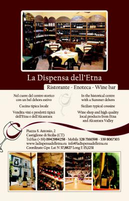 LA DISPENSA DELL'ETNA - RESTAURANT AND WINE SHOP CASTIGLIONE DI SICILIA