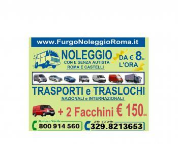 FURGONOLEGGIOROMA - noleggio trasporti traslochi ROMA